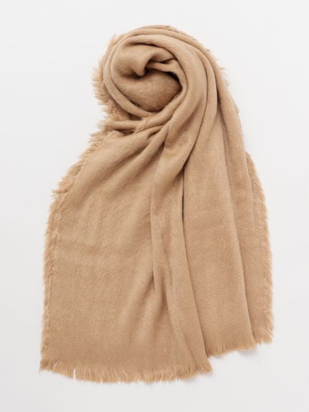 Shaggy Faux Fur Shawl -Scarves-Ametsuchi