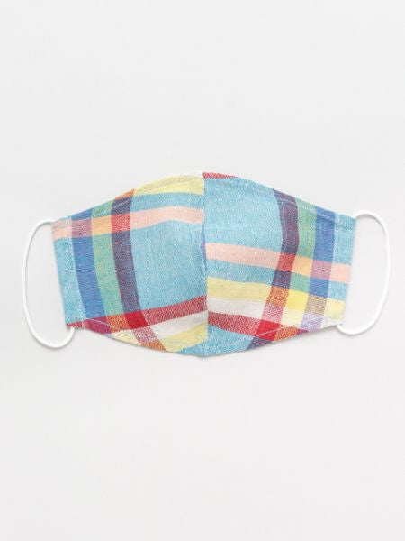 Indian Cotton Plaid Face Mask