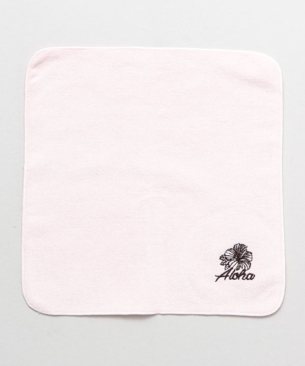Hibiscus Embroidered Handkerchief