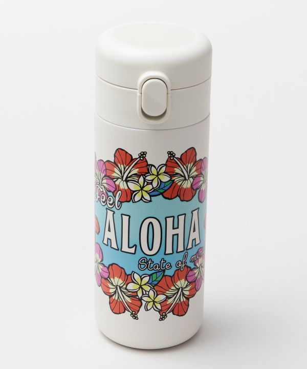 Hawaiian Motif Water Bottle-Kitchen Goods-Ametsuchi