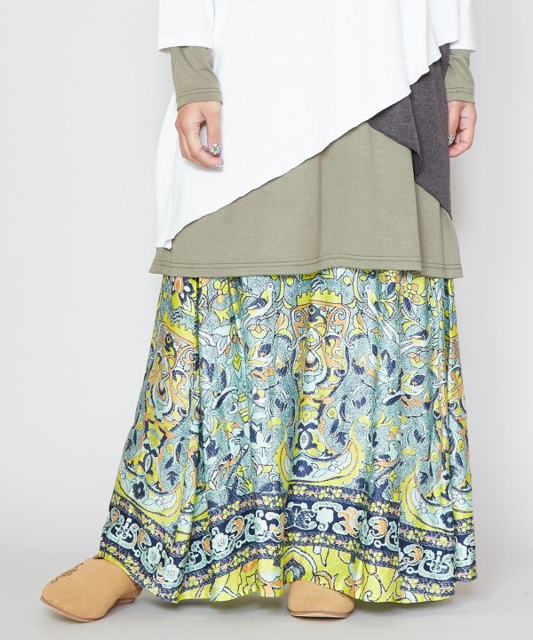 Resort Long Skirt -Skirts-Ametsuchi