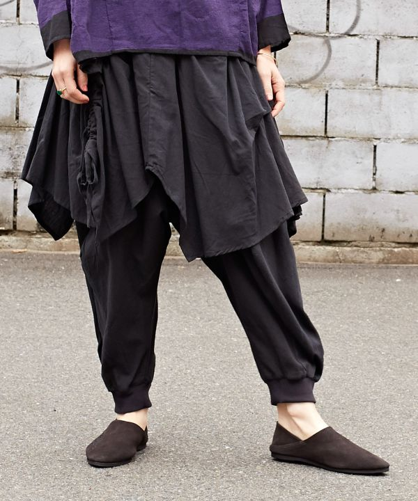 Unisex Layered Harem Pants-Pants & Shorts-Ametsuchi