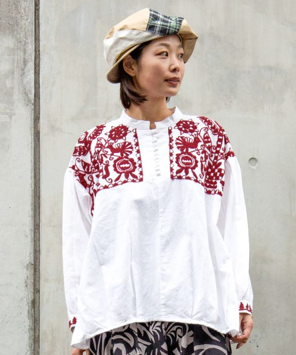 IRASOS Embroidered Blouse-Shirts & Blouses-Ametsuchi