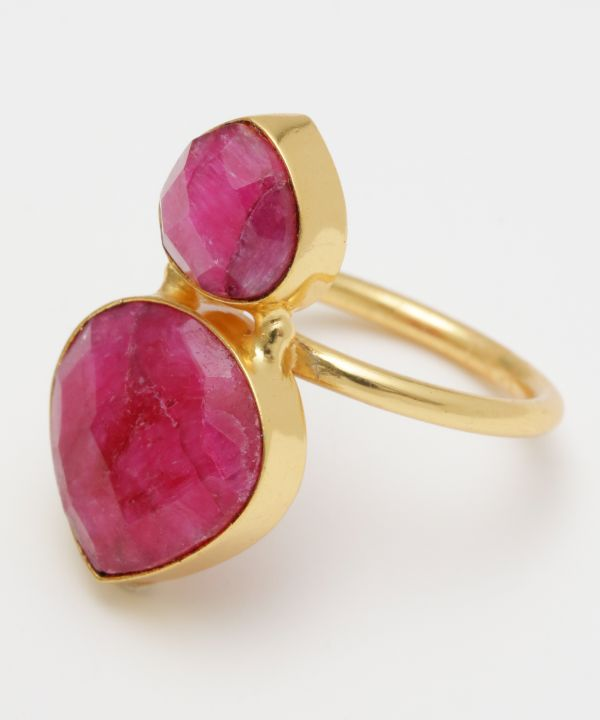 CATHEDRAL Ruby Quartz Ring-Rings-Ametsuchi