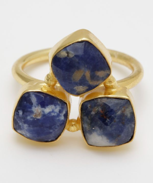 KACHINA Triple Sodalite Ring