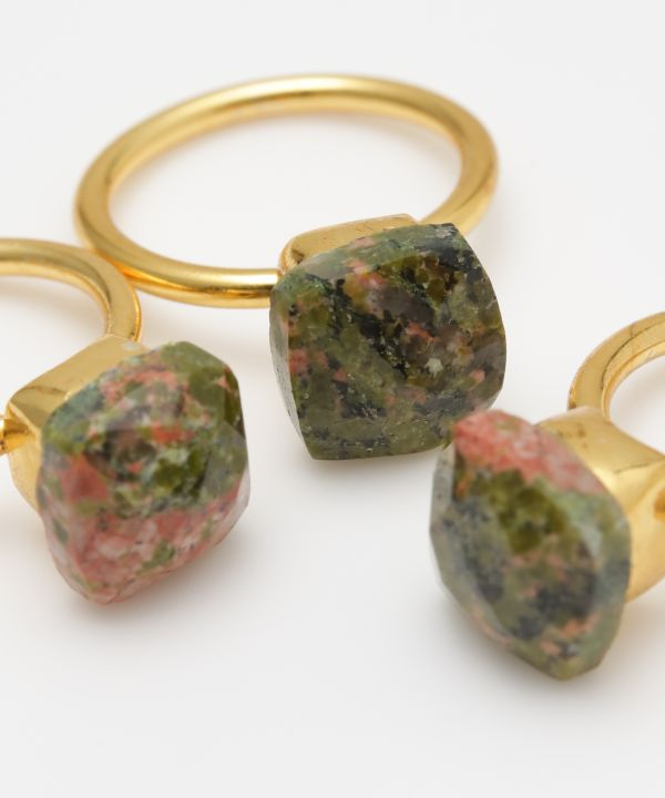 KATHEDRALE Unakite Ring