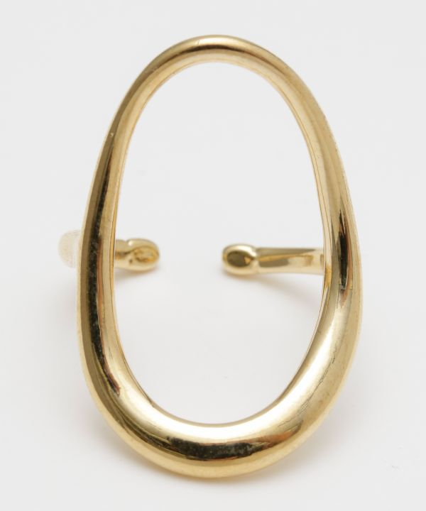 Oval Metal Ring-Rings-Ametsuchi