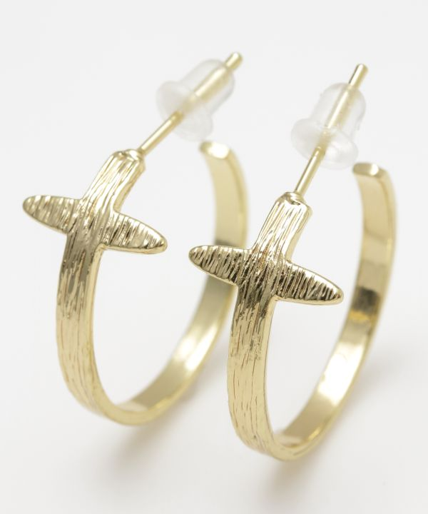 Anting-anting Cross Hoop