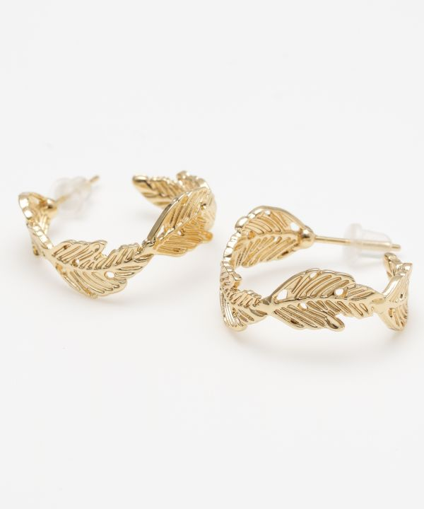 Anting-anting Daun Hoop