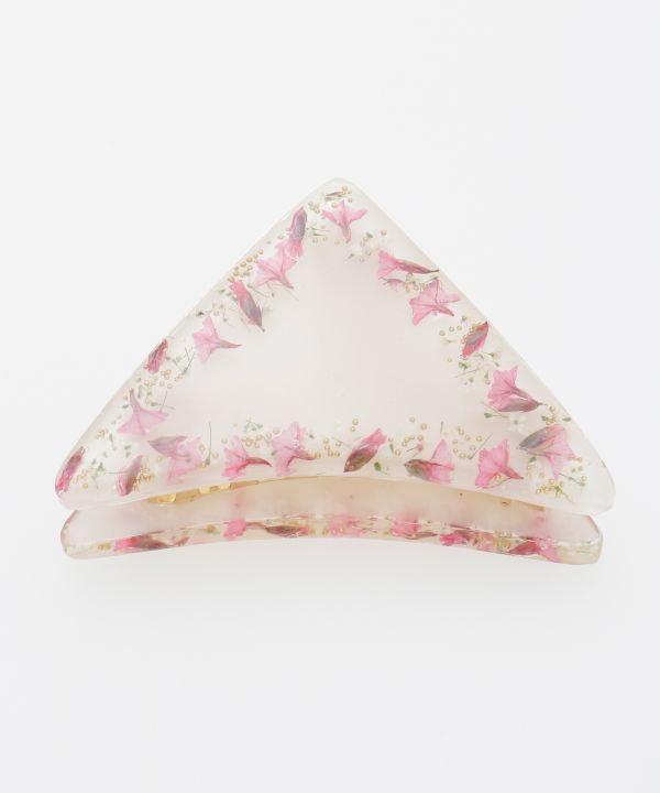 Floral Triangle Hair Clip