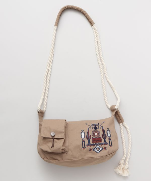 Navajo Embroidery Shoulder Bag-Bags & Purses-Ametsuchi