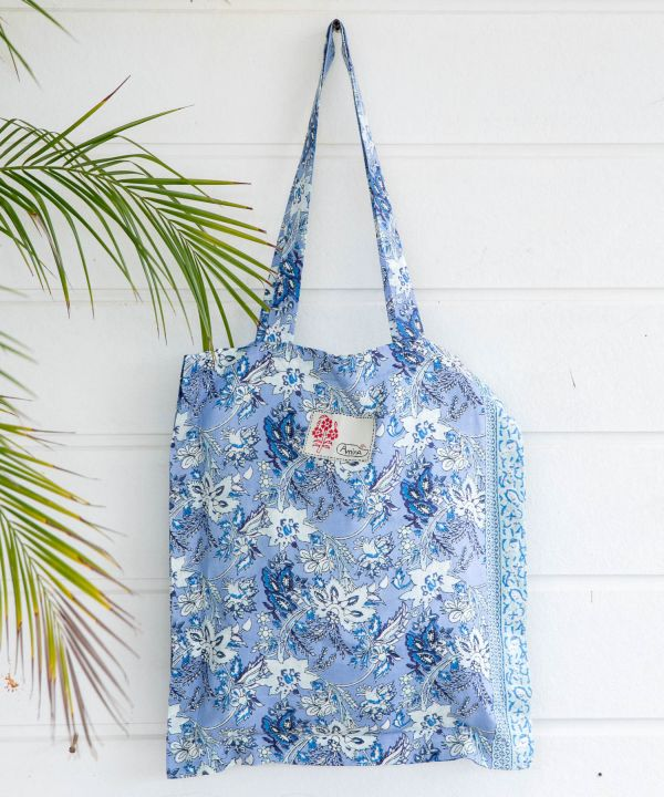 Beg Tote Shantung Floral