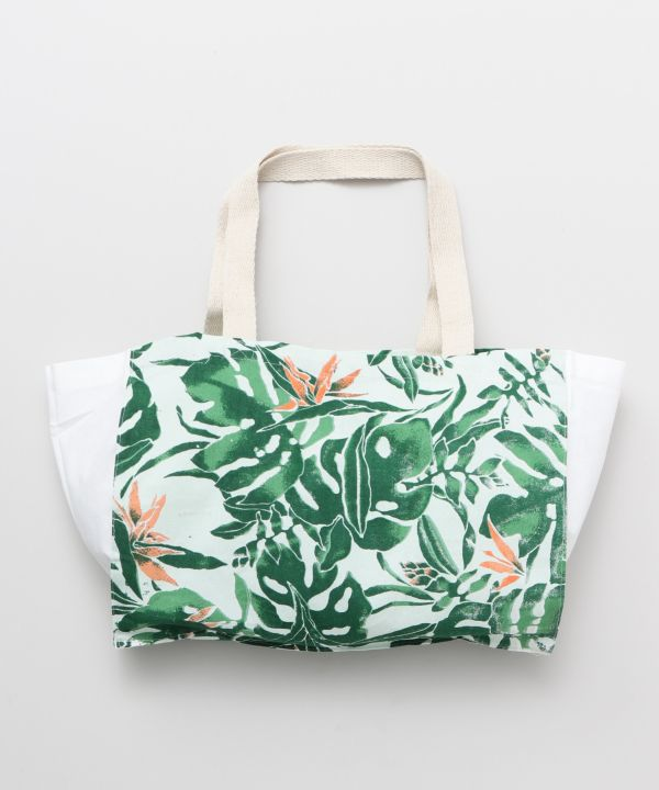 Botanical Packable Eco Bag M-Bags & Purses-Ametsuchi