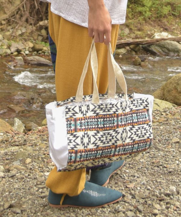 NAVAJO Packable Eco Bag M-Bags & Purses-Ametsuchi