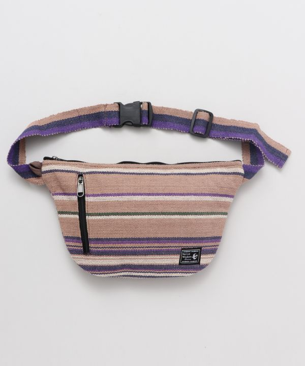 Hand Woven Cotton Body Bag-Bags & Purses-AMINA- Ametsuchi