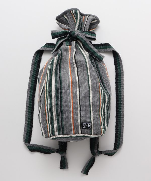Nepal Made Cotton Backpack-Bags & Purses-AMINA- Ametsuchi