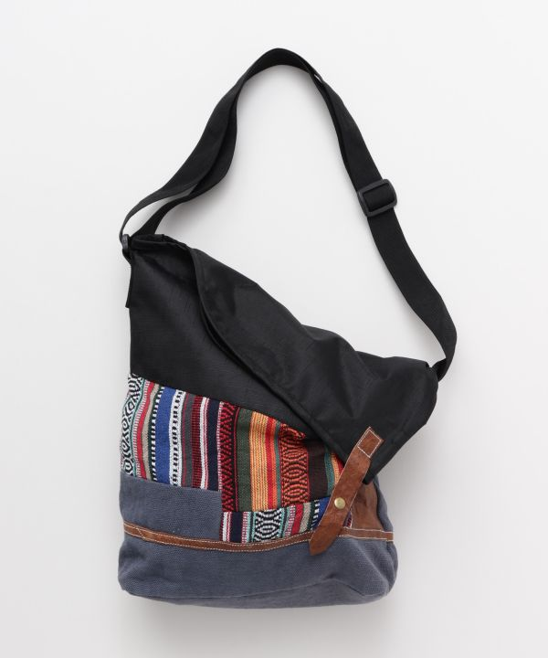 Nepalese Cotton Patchwork Shoulder Bag-Ametsuchi