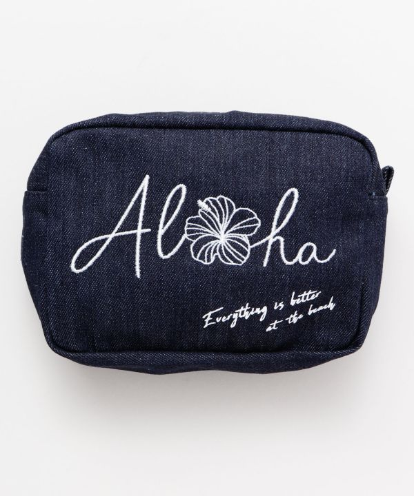 Pochette en filet en denim