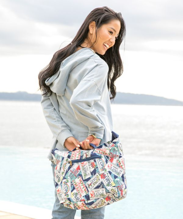 Hawaiian Motif Shoulder Bag-Bags & Purses-Kahiko- Ametsuchi