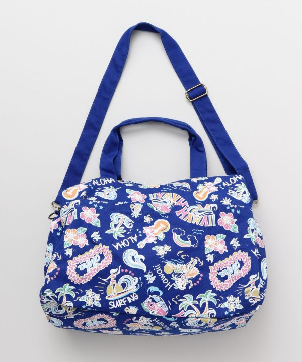 BOLSO BOSTON MOTIVO HAWAIANO-Ametsuchi