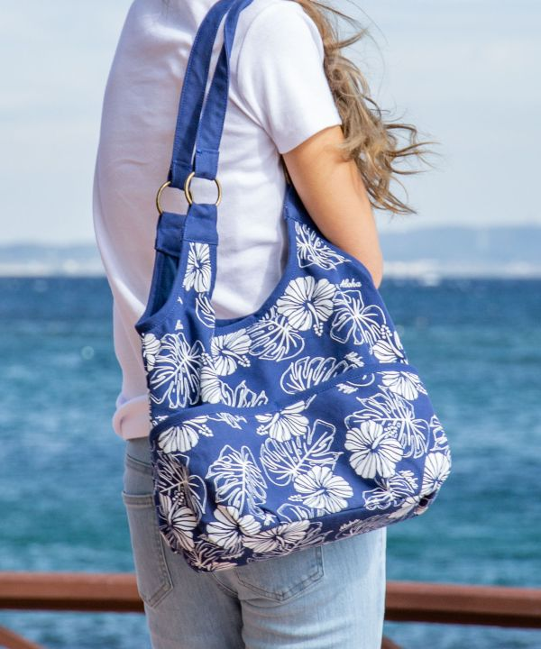 Hibiscus & Monstera Bag