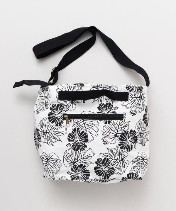 Hibiscus & Monstera Shoulder Bag