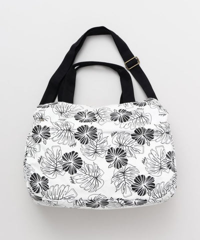 Hibiscus & Monstera Boston Bag-Ametsuchi