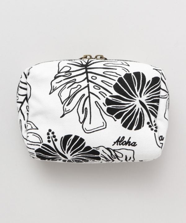 Pochette Hibiscus & Monstera