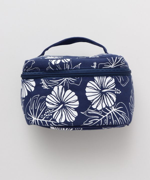 Hibiscus & Monstera Cosmetic Pouch