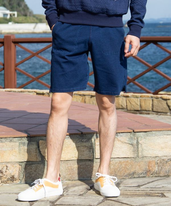 Ocean Life Sweat Shorts-Pants & Shorts-Ametsuchi