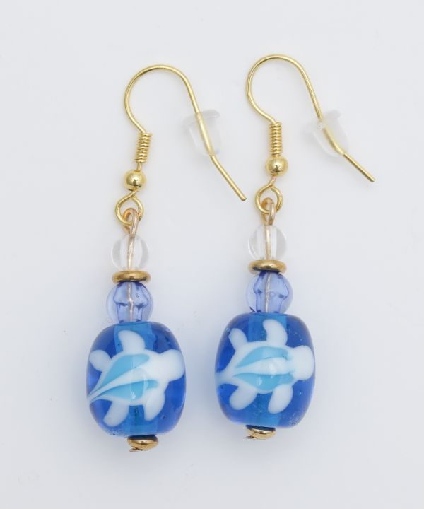 Kailua Beach Turtle Earrings