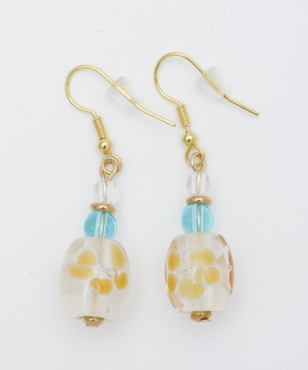 Kailua Beach Plumeria Earrings