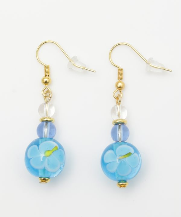 Kailua Beach Hibiscus Earrings