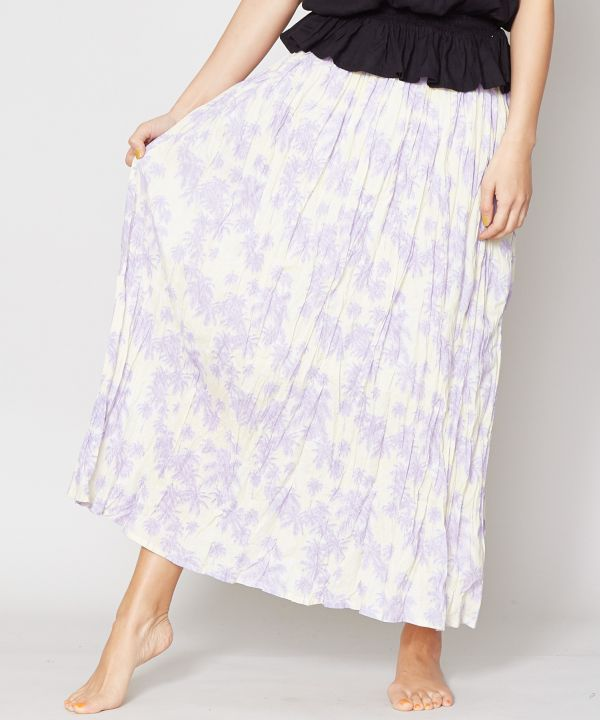 Palm Tree Long Skirt-Ametsuchi