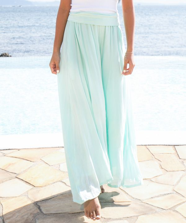 Slow Life Wide Leg Pants-Ametsuchi