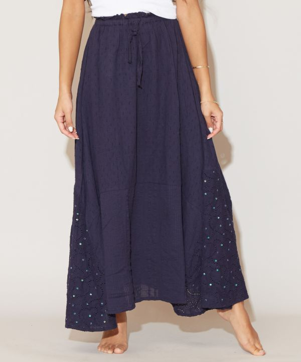 Star Shower Lace Skirt-Ametsuchi