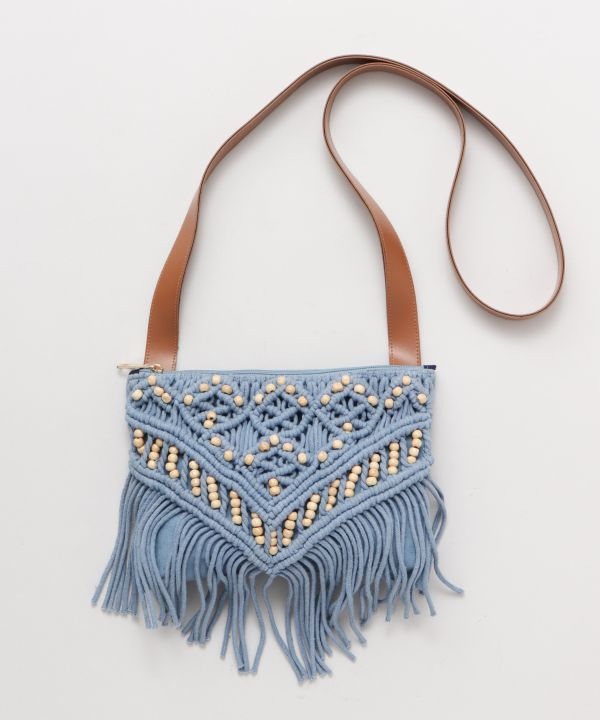 Wave Sounds Macrame Shoulder Bag
