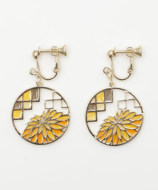 Four Seasons Clip Earrings