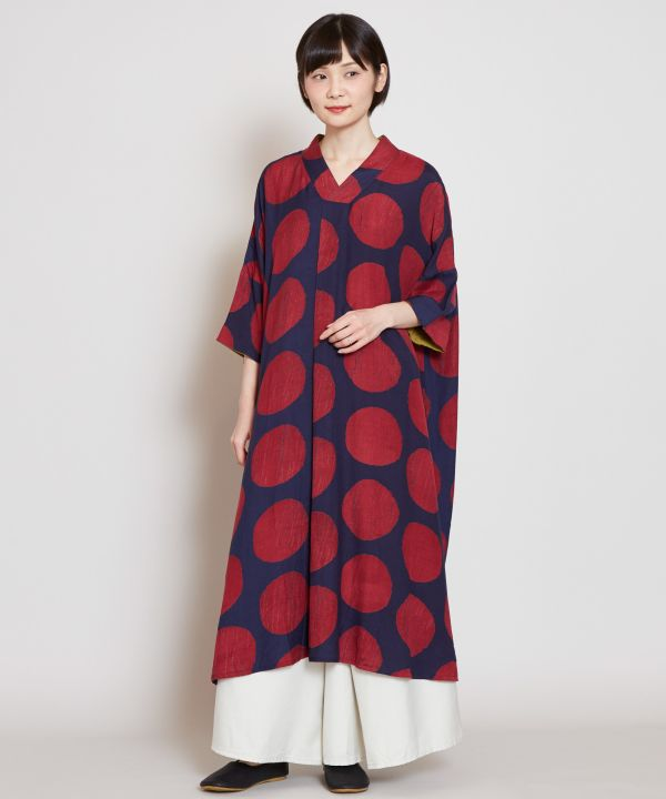 Rainy Window Dot Dress-Ametsuchi
