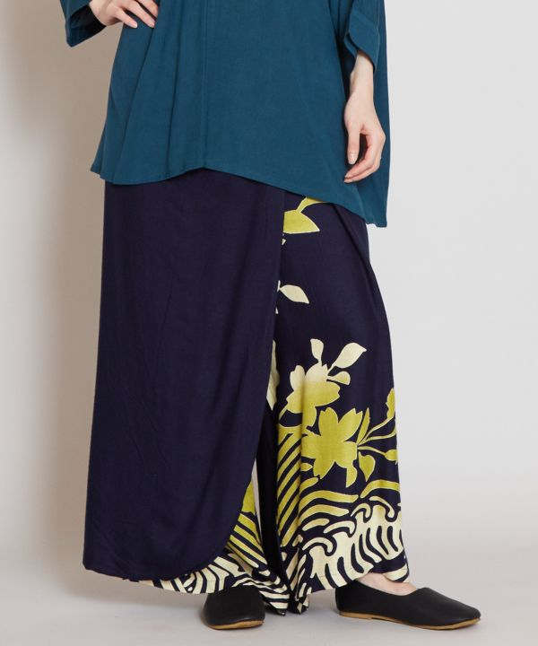 SHIROGANE Wrap Wide Leg Pants