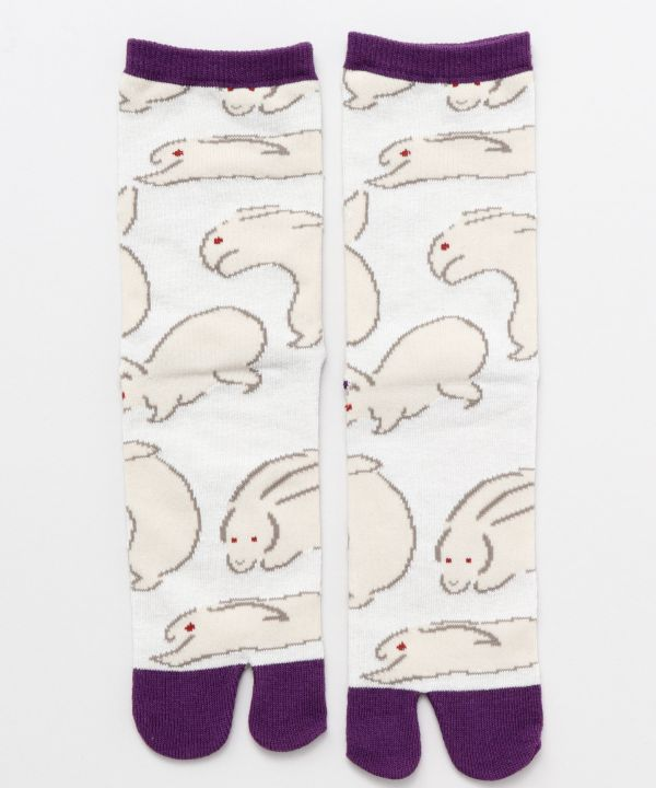 TABI Socks RYAKUGA Rabbit 23~25cm