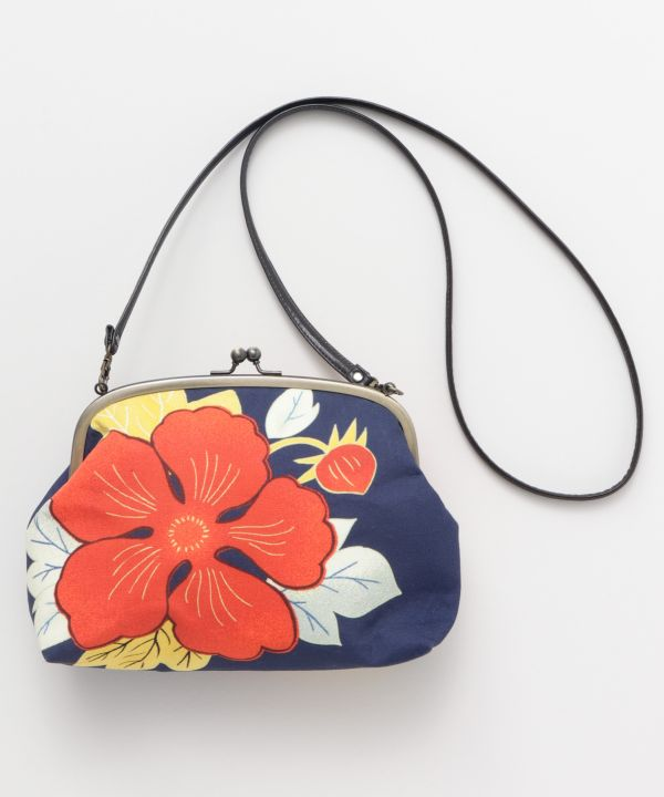 Floral GAMAGUCHI Shoulder Bag-Bags & Purses-Ametsuchi