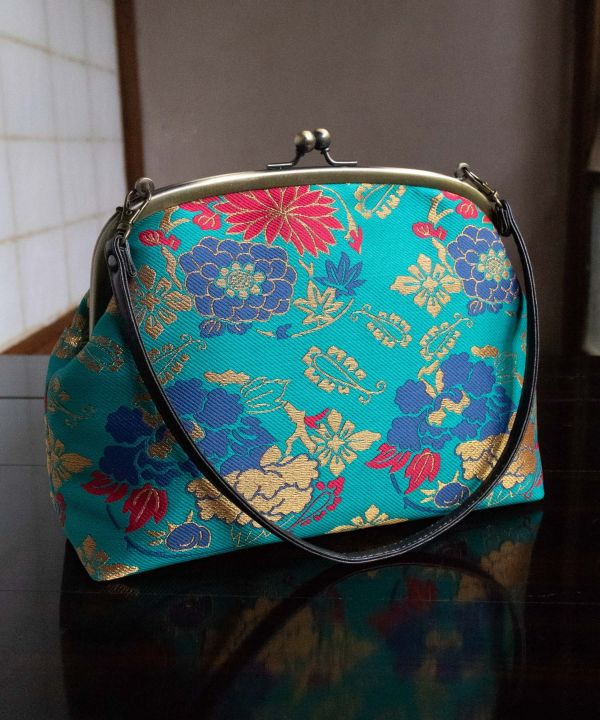 KIREHON Brocade GAMAGUCHI Hand Bag