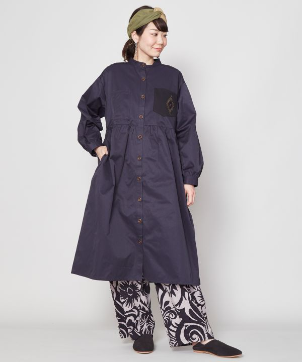 60/40 Fabric Long Jacket-Cardigans & Outerwear-Ametsuchi