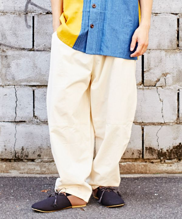Patchwork Cocoon Men's Pants-Ametsuchi