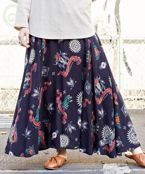 Canyon Long Skirt -Skirts-Ametsuchi