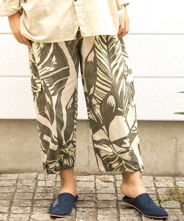 Botanical Men's Cropped Pants-Ametsuchi