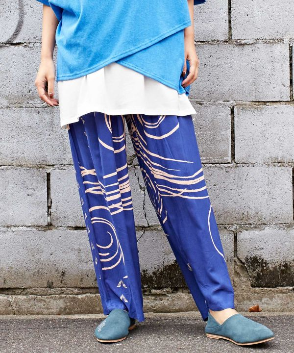 Pueblo Legends Wide Leg Pants-Ametsuchi