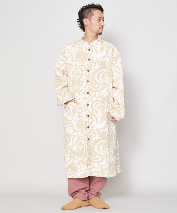 Botanical Cotton Twill Jacket-Cardigans & Outerwear-Ametsuchi