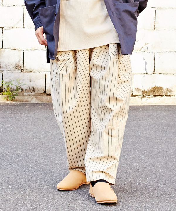 Men's Stripe Relax Pants-Ametsuchi